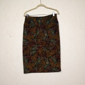 LulaRoe Cassie Pencil Skirt Paisley Medium